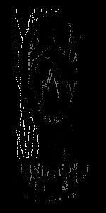 Erik Satie als Skizze von ihm selbst gezeichnet