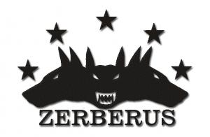 Logo der Zerberus-Software | Drei Hundeköpfe, von einem Europa-Sternenkranz gekrönt